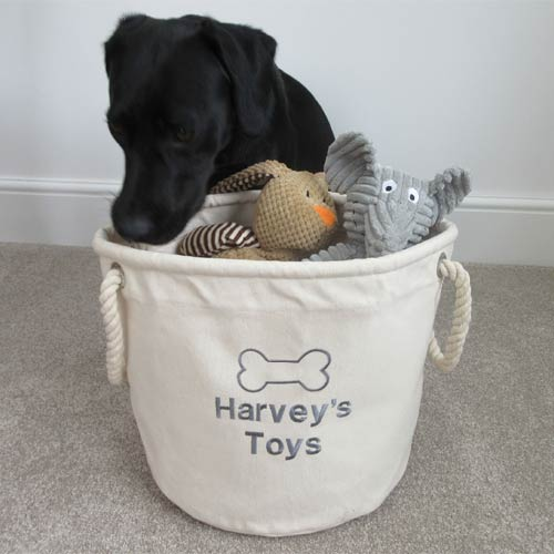 d7be99107aee Personalised Dog Toy Box   Canvas Storage Bag